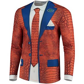 Men's Faux Real Apparel Multi Florida Gators Faux Suit Long Sleeve Shirt