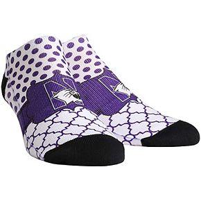 Women's Northwestern Wildcats Quatrefoil Dots Ankle Socks