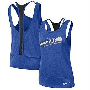 Women's Nike Royal/Black Duke Blue Devils Loose Racerback Performance Tank Top