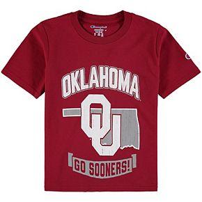 Youth Champion Crimson Oklahoma Sooners Strong Mascot T-Shirt