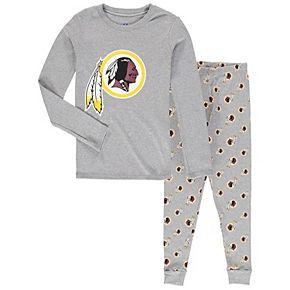 Youth Heathered Gray Washington Redskins Long Sleeve T-Shirt & Pants Sleep Set