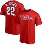Men's Majestic Andrew McCutchen Red Philadelphia Phillies Official Name & Number T-Shirt