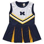 Girls Preschool & Toddler Navy Michigan Wolverines One-Piece Cheer Dress