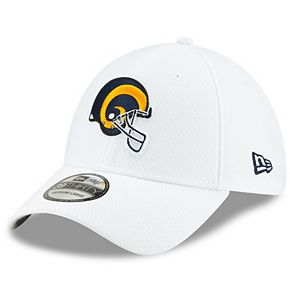Men's New Era White Los Angeles Rams 2019 NFL Sideline Platinum 39THIRTY Flex Hat
