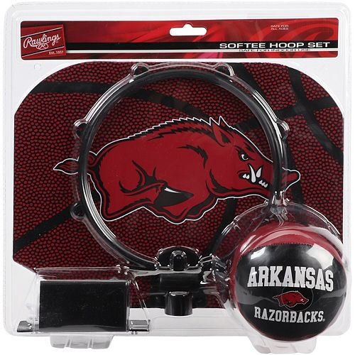 Rawlings Arkansas Razorbacks Softee Hoop and Ball Set