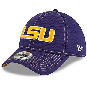 Men's New Era Purple LSU Tigers Sideline Road 39THIRTY Flex Hat