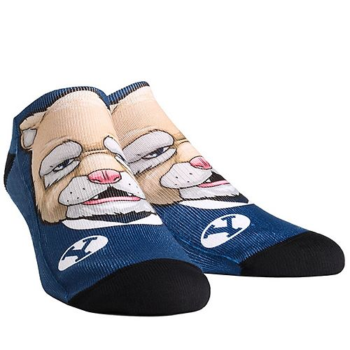 Men's BYU Cougars Mascot Low Ankle Socks