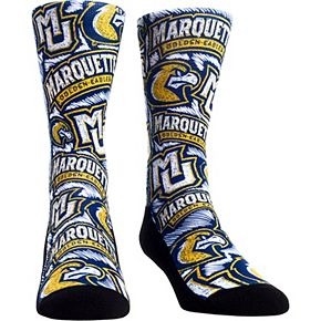 Women's Marquette Golden Eagles Logo Sketch Crew Socks