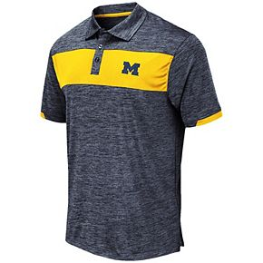 Men's Colosseum Navy Michigan Wolverines Big & Tall Nelson Polo