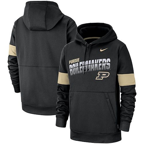 Men's Nike Black Purdue Boilermakers 2019 Sideline Therma-FIT Perfromance Hoodie