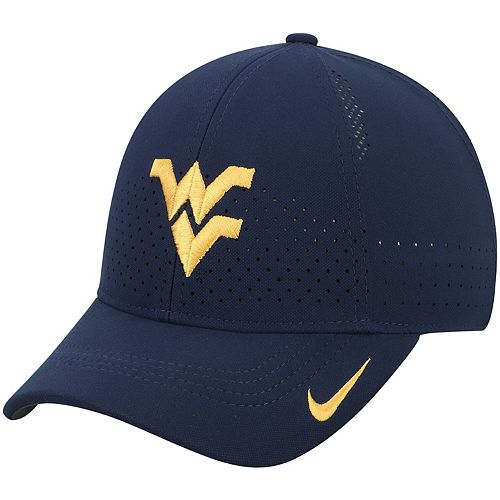 Youth Nike Navy West Virginia Mountaineers Sideline Coaches Legacy 91 Performance Adjustable Hat