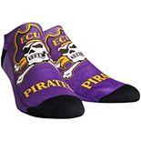Youth ECU Pirates Mascot Ankle Socks