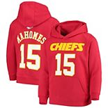 Youth Patrick Mahomes Red Kansas City Chiefs Mainliner Player Name & Number Fleece Pullover Hoodie