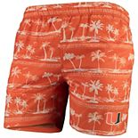 Men's Colosseum Orange Miami Hurricanes Maui Swim Shorts