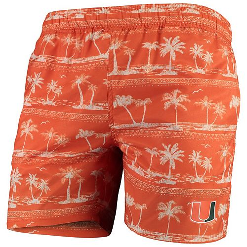 Men's Colosseum Orange Miami Hurricanes Maui Swim Shorts