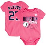 Newborn & Infant Majestic Jose Altuve Pink Houston Astros Baby Slugger Name & Number Bodysuit