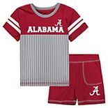 Toddler Colosseum Crimson Alabama Crimson Tide Halifax T-Shirt & Shorts Set