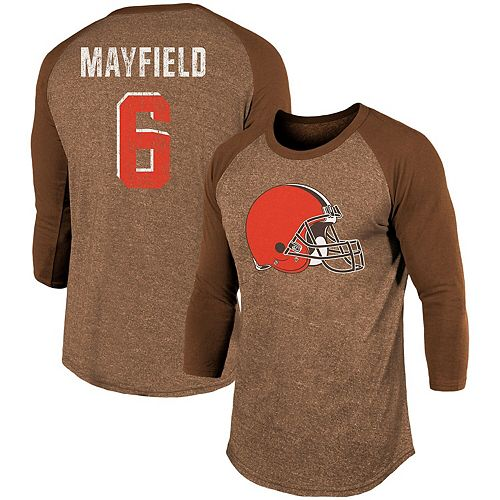 pretty nice 4f7fc 7a182 Men's Majestic Threads Baker Mayfield Brown Cleveland ...