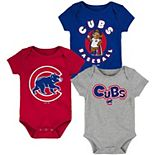 Newborn & Infant Royal/Red/Heathered Gray Chicago Cubs Everyday Fan Three-Pack Bodysuit Set