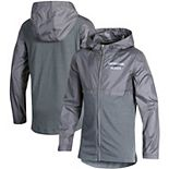 Youth Under Armour Heathered Gray Northwestern Wildcats Woven Layer Full-Zip Jacket