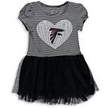 Girls Preschool Black/White Atlanta Falcons Celebration Scoop Neck Tutu Dress
