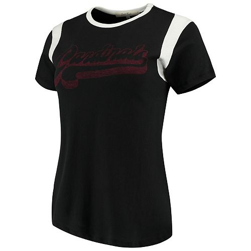Women's Junk Food Black/White Arizona Cardinals Retro Sport T-Shirt