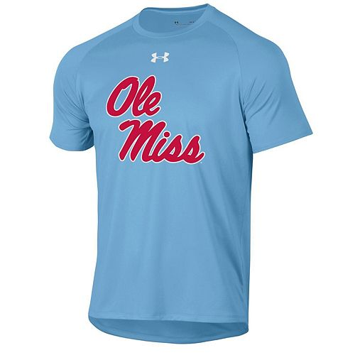 vast selection 2018 sneakers first rate Men's Under Armour Light Blue Ole Miss Rebels School Logo Tech ...