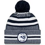 Youth New Era Navy Los Angeles Rams 2019 NFL Sideline Home Sport Knit Hat