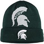 Youth New Era Green Michigan State Spartans Logo Whiz Cuffed Knit Hat