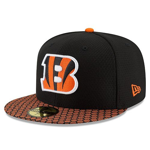 Cincinnati Bengals New Era Youth 2017 Sideline Official 59FIFTY Fitted Hat - Black