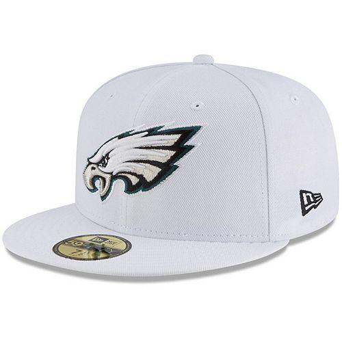 Men's New Era White Philadelphia Eagles Omaha 59FIFTY Fitted Hat