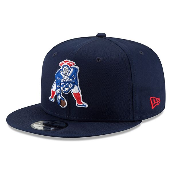 Men S New Era Navy New England Patriots Throwback 9fifty Adjustable Snapback Hat
