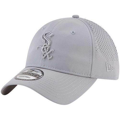 Men's New Era Gray Chicago White Sox Perforated Tone 9TWENTY Adjustable Hat