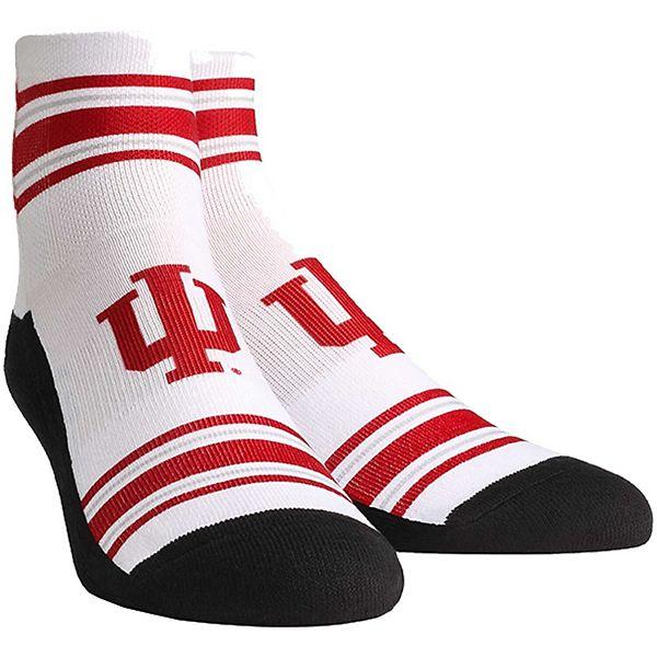 Women's White Indiana Hoosiers Classic Stripes Quarter-Length Socks