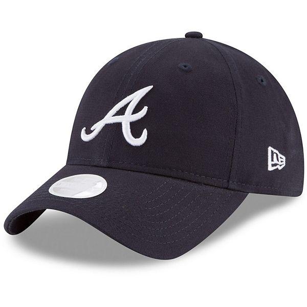 Women's New Era Navy Atlanta Braves Core Classic 9TWENTY Adjustable Hat
