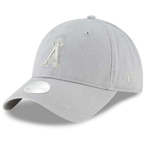 Women's New Era Gray Los Angeles Angels Core Classic Twill 9TWENTY Adjustable Hat