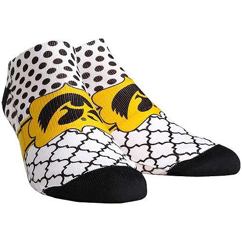 Women's Iowa Hawkeyes Quatrefoil Dots Ankle Socks