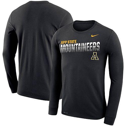 Men's Nike Black Appalachian State Mountaineers Sideline Legend Performance Long Sleeve T-Shirt
