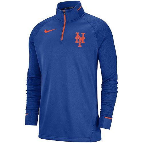 Men's Nike Royal New York Mets Elite Game Performance Raglan Sleeve Quarter-Zip Pullover Jacket