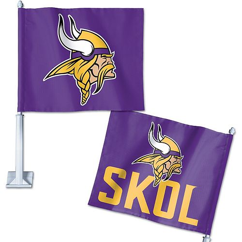 WinCraft Minnesota Vikings Double-Sided Slogan Car Flag