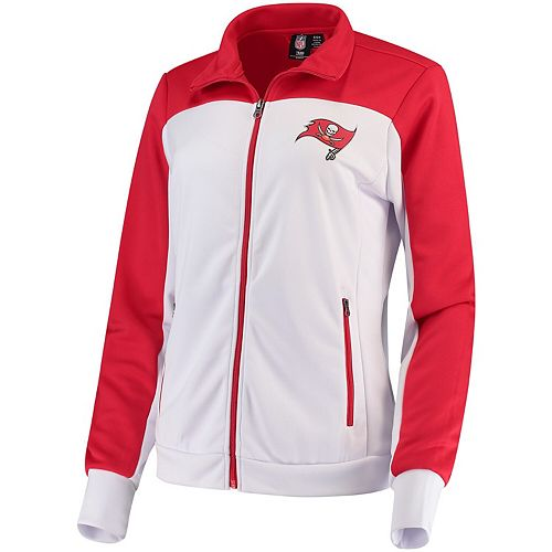 Women's G-III 4Her by Carl Banks White/Red Tampa Bay Buccaneers Playmaker Full-Zip Track Jacket