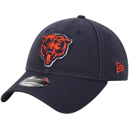 Men's New Era Navy Chicago Bears Core Classic Secondary Logo 9TWENTY Adjustable Hat