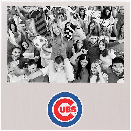 "Chicago Cubs 4"" x 6"" Aluminum Picture Frame"