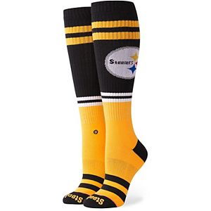 Women's Stance Pittsburgh Steelers Pipe Bomb Tall Boot Socks