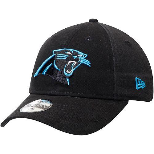 Youth New Era Black Carolina Panthers Primary Core Classic 9TWENTY Adjustable Hat