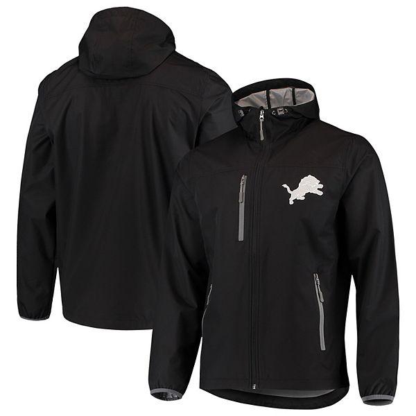 Men's G-III Sports by Carl Banks Black Detroit Lions Trick Play Full-Zip Hooded Jacket