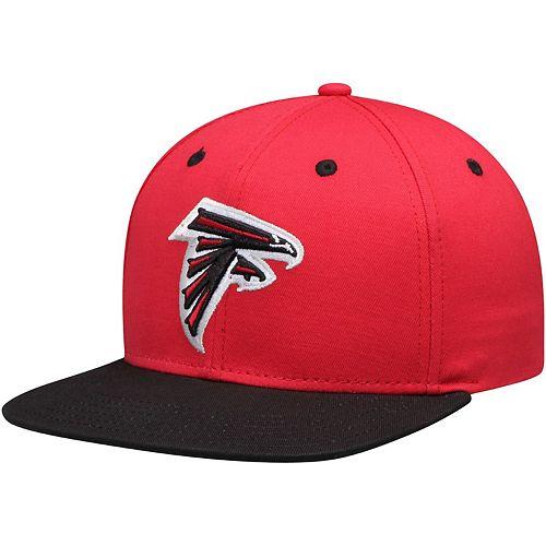 Youth Red/Black Atlanta Falcons Two-Tone Flatbrim Snapback Adjustable Hat