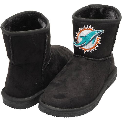 Women's Cuce Black Miami Dolphins The Rookie Mini Boots