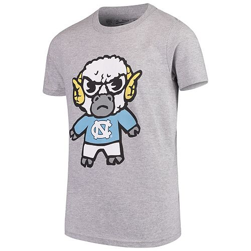 Youth Original Retro Brand Heathered Gray North Carolina Tar Heels Tokyodachi T-Shirt