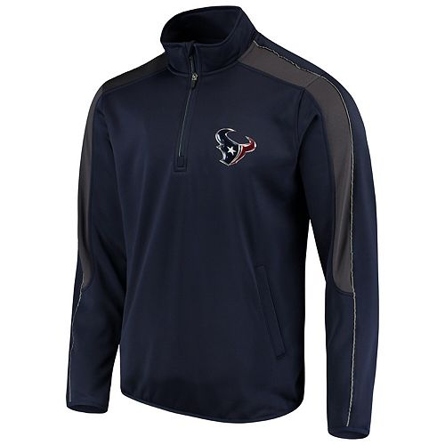 Men's G-III Sports by Carl Banks Navy Houston Texans I Formation Quarter-Zip Pullover Jacket